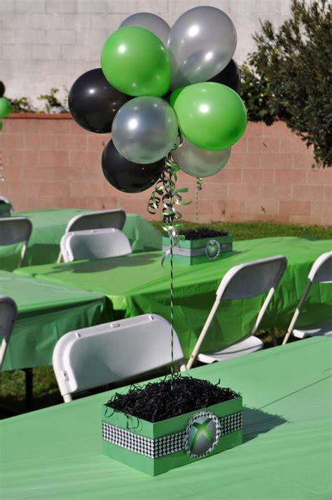 video game themed birthday party xbox theme birthday party ideas photo 9 of 11 catch my