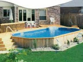 outdoor above ground pool with deck how to build a pool
