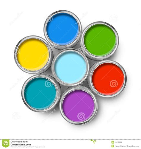 what color is tope color paint tin cans top royalty free stock photos image
