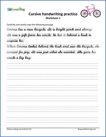 free printable handwriting worksheets with sentences cursive sentence worksheets switchconf