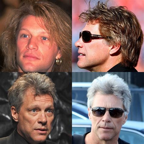 Bon Jovi 53 aos 53 jon bon jovi exibe cabelos supergrisalhos em