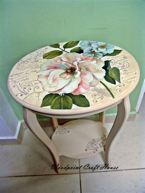 Decoupage Wood Table - decoupage table altered furniture wood crafts