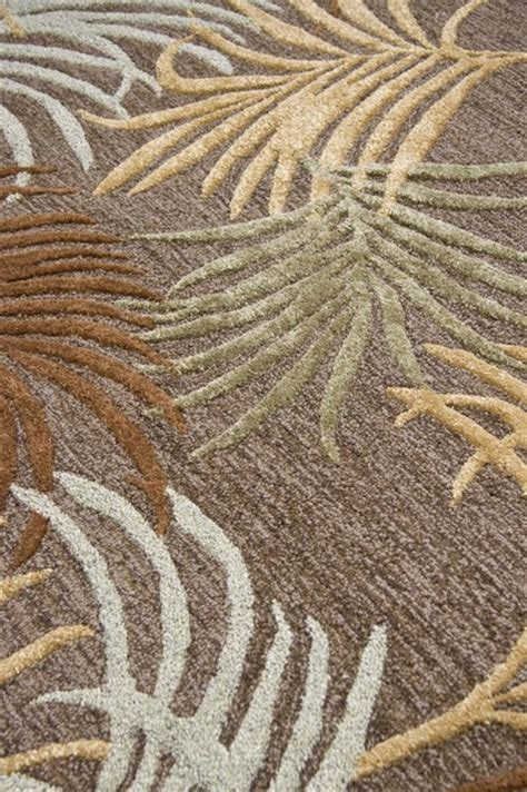 rug palm reader color cocoa brown