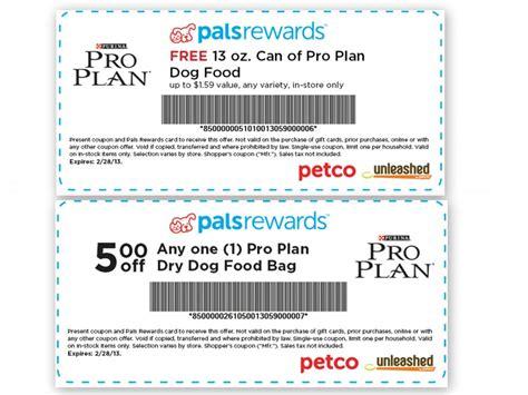 petco food coupons petco free purina pro plan food and 5 coupon