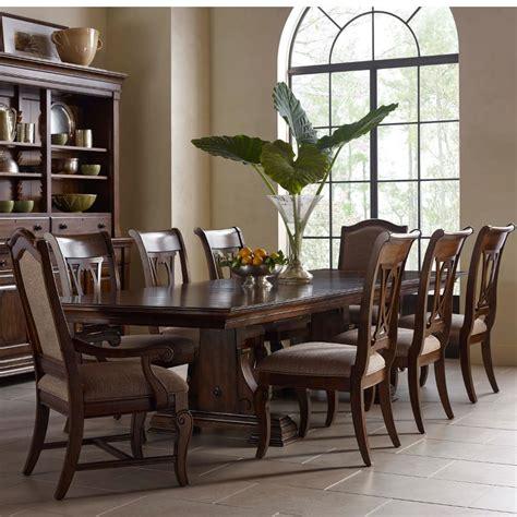 kincaid dining room furniture kincaid furniture portolone nine piece trestle table harp