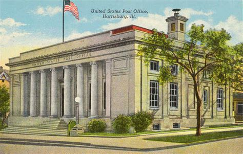 Saline Post Office by Postcards From Saline County Illinois