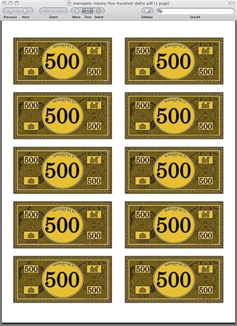 printable monopoly money template monopoly money pdf yearbook money cases