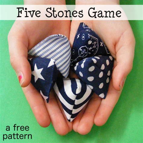 Free Pattern   Five Stones Game   Shiny Happy World