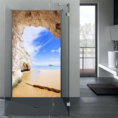 glas auf fliesen kleben duschr 220 ckwand alu dibond duschwand wandbild wandschutz