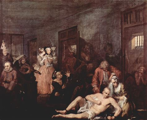 8 Paintings By Hogarth by A History Of Mental Illness In Society The