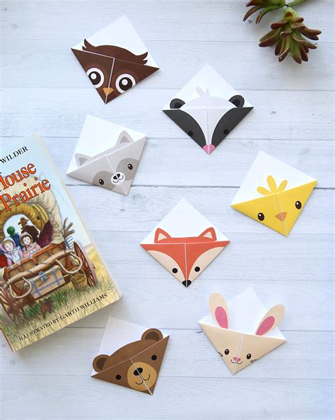 Animal Origami Book - diy woodland animals origami bookmarks print fold it