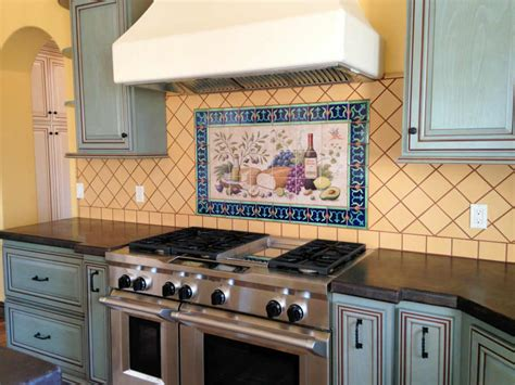 hand painted tiles for kitchen backsplash hand painted tile backsplash kitchen cabinet hardware