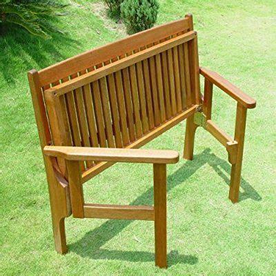 folding wooden bench trueshopping convenient folding foldaway two seat keruing
