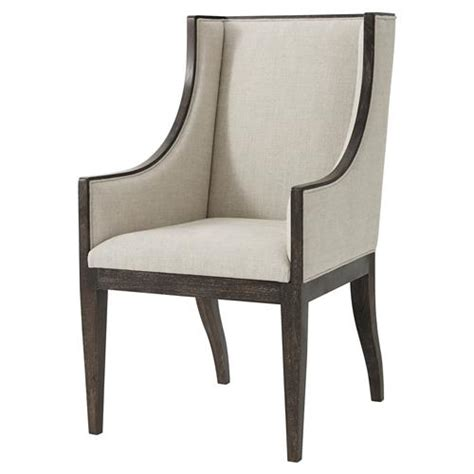 oatmeal linen wingback chair theodore englewood oatmeal linen wingback dining
