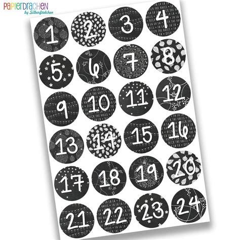 Aufkleber Adventskalender by 24 Adventskalender Zahlen Nr 16 Aufkleber Sticker