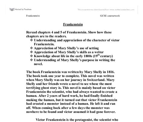 analysis of frankenstein chapters frankenstein essay chapter 5 fashionessay x fc2 com