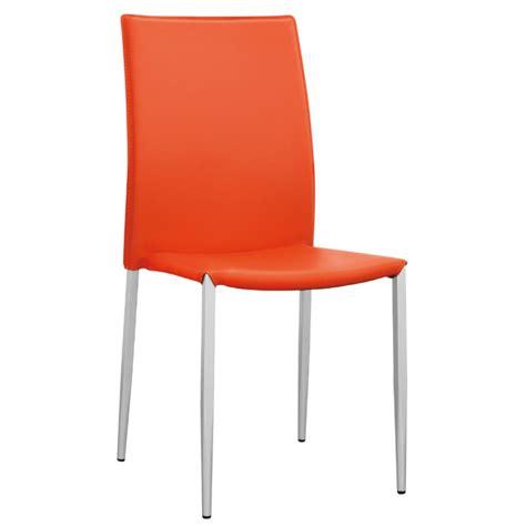 sedia ecopelle sedia in ecopelle arancio per cucina moderna con struttura