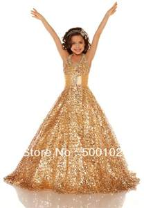 Gold halter beaded dresses for girls of 7 years old pageant dresses