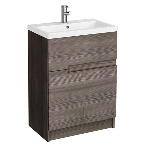 600mm Urban Compact Floorstanding Vanity Unit With Basin