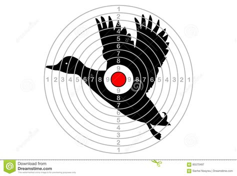 the target the target vector duck stock vector image 85570497