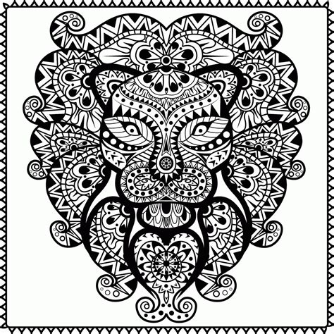 coloring pages for adults abstract pdf abstract animal coloring pages az coloring pages