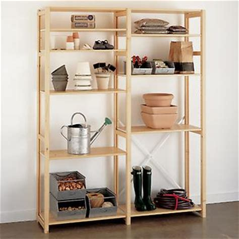 wood shelves wood shelving units the container store