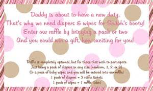 Diapers And Wipes Shower Invitation by Diaper Raffle Inserts For The Invites Cute We Would