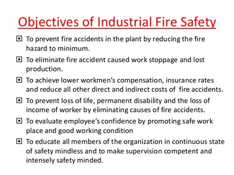 layout of the work space to prevent accidents and injuries industrial fire safety