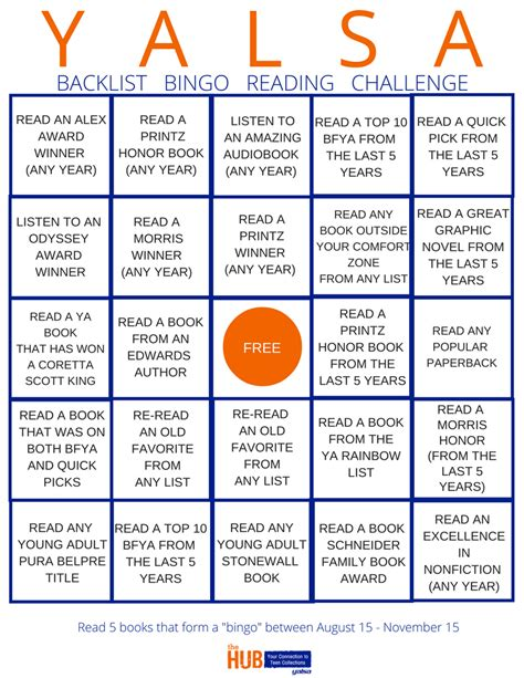 reading challenge cards introducing yalsa s backlist reading challenge the hub