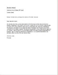 warning letter template for absenteeism warning letter template absenteeism written warning