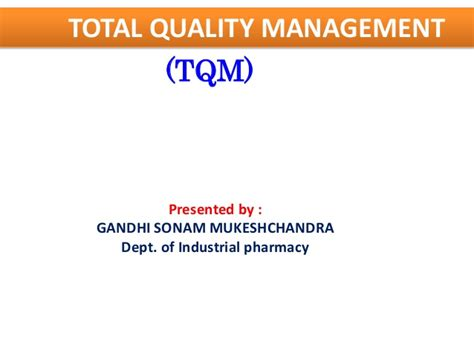 Total Quality Management Project For Mba Pdf by Tqm Total Quality Management
