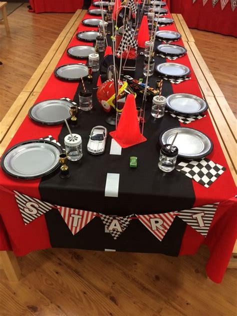 cing themed table decorations decorating tips for a nascar windy city novelties