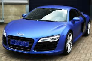 audi r8 wrapped in avery dennison swf brilliant blue