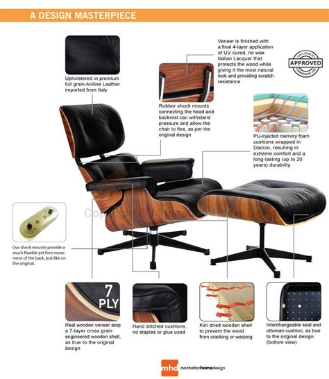 Replica Eames Lounge Chair by Eames Lounge Chair Replica Vitra Black Manhattan Home Design