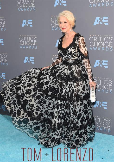 Dg Dress Helen Dress Helen Murah werq helen mirren in dolce gabbana at the critics choice