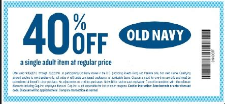 old navy coupons passbook old navy printable coupons october 2017 printable coupon