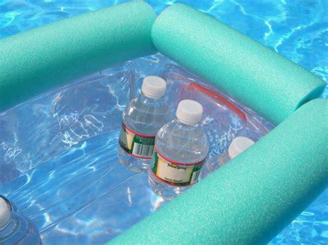 diy floating cooler simple pool noodle floating cooler diy hello nature