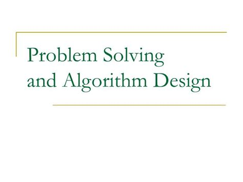 layout planning models and design algorithms ppt ppt problem solving and algorithm design powerpoint