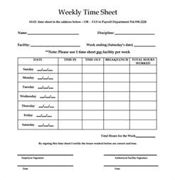 Easy Timesheet Template by 13 Simple Timesheet Templates Free Sle Exle