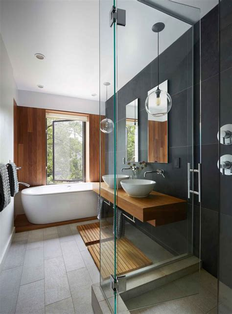 woodsy bathroom decor 20 cool and fresh bathroom with wood elements home
