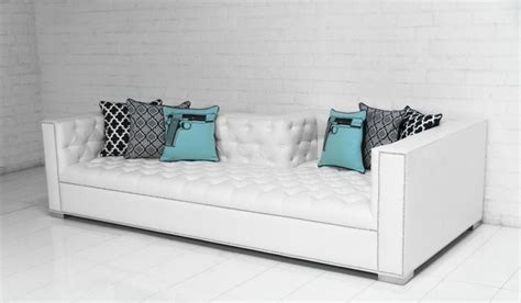 white faux leather tufted sofa www roomservicestore lola tufted sofa in mesa white