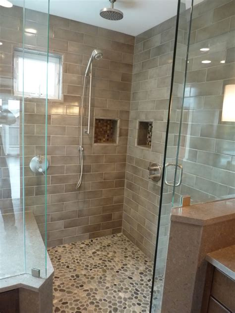pebbles in bathroom how to install pebble tiles in your washroom