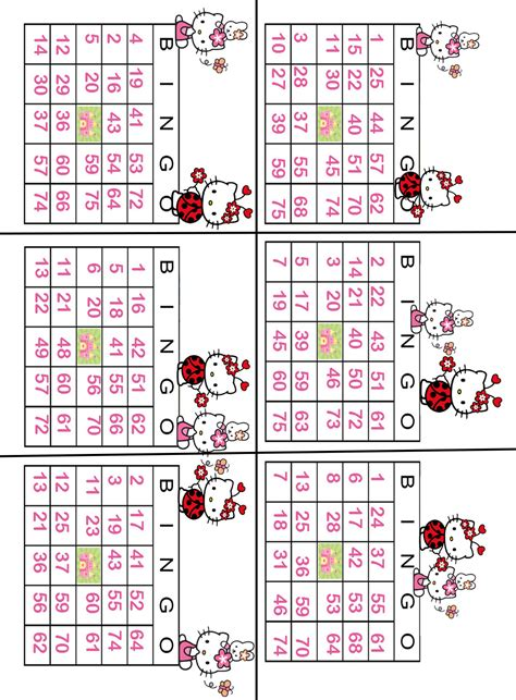 printable games bingo interactive magazine hello kitty printable bingo game