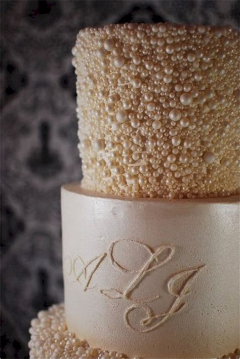 Wedding Cakes With Pearls by Pearl Encrusted Wedding Cake Cakecentral