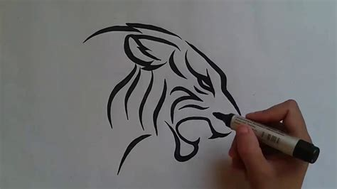 tattoo pictures to draw how to draw tiger tattoo طرسقة رسم نمر وشم youtube