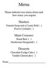 wedding menu choice template wedding menu cards ebay
