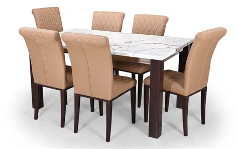buy royaloak pearl 6 seater dining set with cushioned