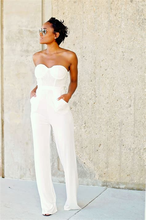 all white outfit on pinterest white outfits white fashion trend white jumpsuits for women 2018 fashiongum com