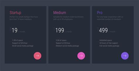 table design inspiration web design inspiration pricing tables