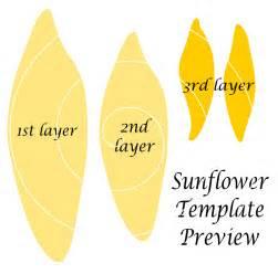 sun flower template paper sunflower templates paper sunflowers